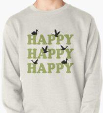 Green Digital Camo Happy Happy Happy Pullover