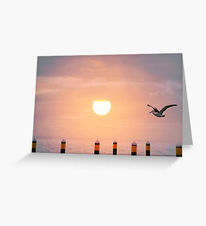 Sunset Pelican Greeting Card
