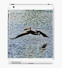 Pelican Flying Over Water iPad Case/Skin