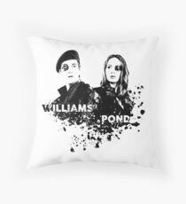 Amy Pond & Rory Williams Throw Pillow