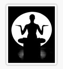 I love heart yoga Sticker