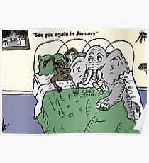 Capitol capital compromise cartoon Poster