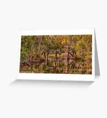Gundagai Reflections- The HDR Experience Greeting Card
