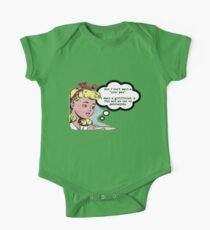 "I don't want a ""nice man"" - feminist tee Short Sleeve Baby One-Piece"