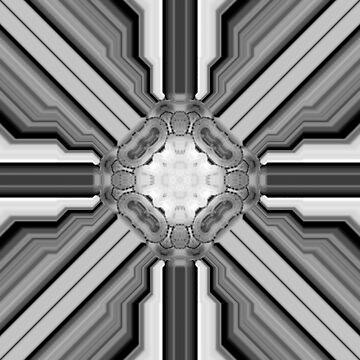 Black and White Kaleidoscope, Mandala, Chakra by deleas
