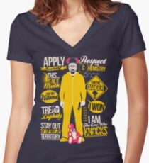 The One Who Knocks Women's Fitted V-Neck T-Shirt