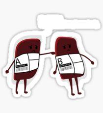BLOOD BAGS TSHIRT Sticker