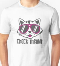 Check Meowt Slim Fit T-Shirt