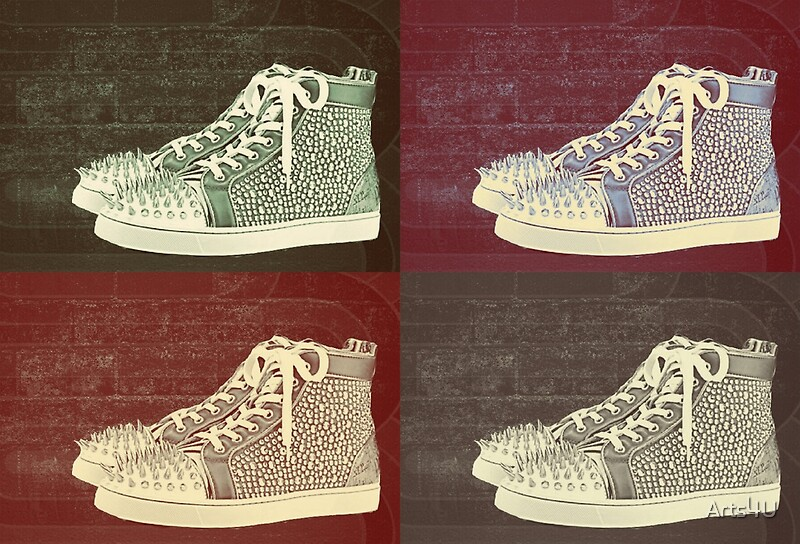 Christian Louboutin Mens Sneakers Pop Art Art Print