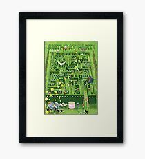 Birthday Garden Party Framed Print