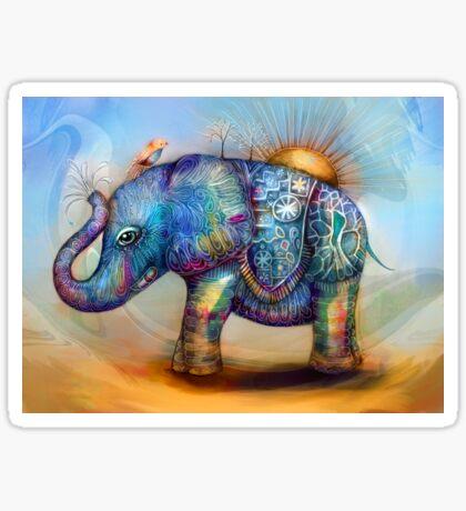 magic rainbow elephant Sticker