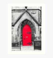The Red Cathedral Door Art Print