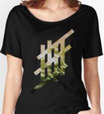 'Stripe'- Cloud Women's Relaxed Fit T-Shirt