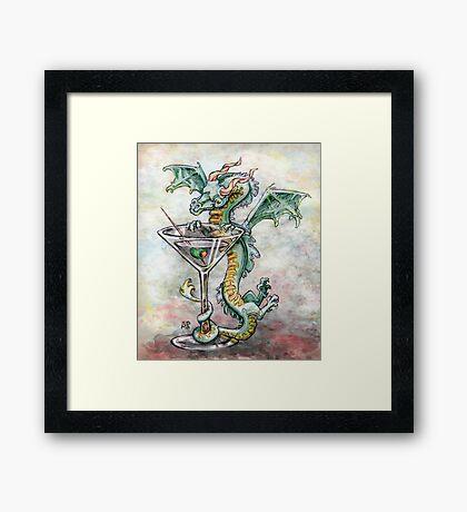 Martini Dragon Framed Print