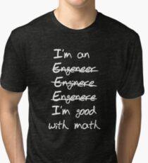 Ingénieur. Je suis bon en maths T-shirt chiné
