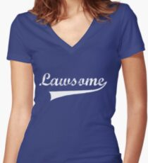 Lawsome Women's Fitted V-Neck T-Shirt