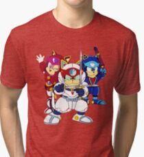 Samurai Pizza Cats - Group Color Tri-blend T-Shirt