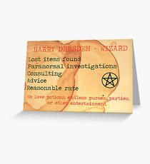 Harry Dresden Business Card Greeting Card
