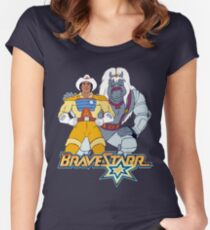 BraveStarr - Thirty Thirty and BraveStarr #3  - Color Women's Fitted Scoop T-Shirt