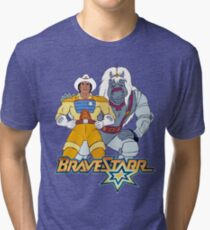 BraveStarr - Thirty Thirty and BraveStarr #3  - Color Tri-blend T-Shirt