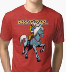 BraveStarr - Thirty Thirty and BraveStarr #4  - Color Tri-blend T-Shirt