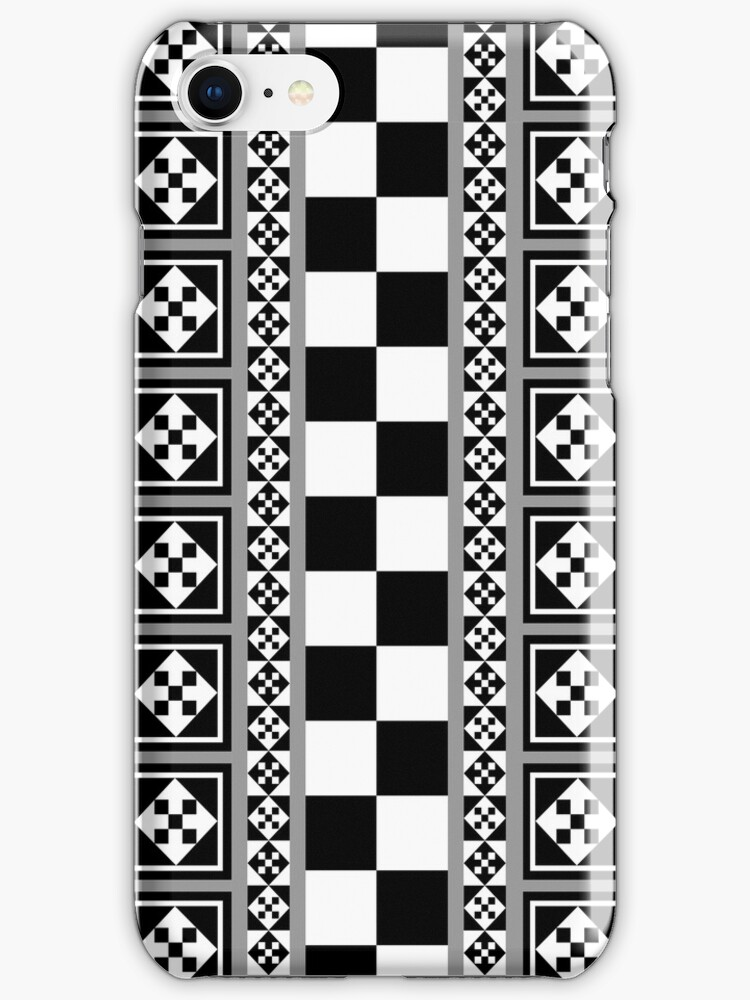 Portugese Patterns Black, Grey, White case by walstraasart