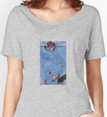 Ribbon wood and ground birds Women's Relaxed Fit T-Shirt