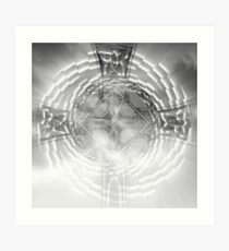 cross in the sky Art Print