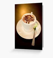 .xmas babychino. Greeting Card