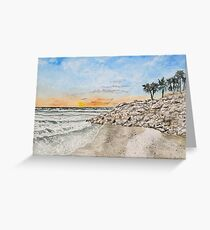 Bradenton beach Florida seascape print Greeting Card