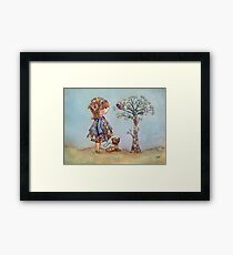 The Patchwork Tree Framed Print