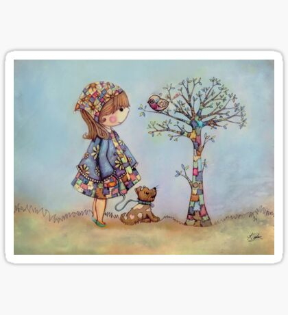 The Patchwork Tree Sticker