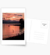 Sunset Heron Postcards