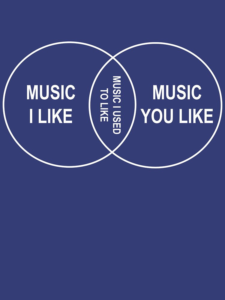 Music You Like Music I Like Music I Used To Like Venn Diagram