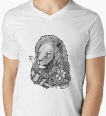 Lion Mens V-Neck T-Shirt