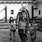 Japanese Warrior - Matsumoto Castle by Colin  Ewington