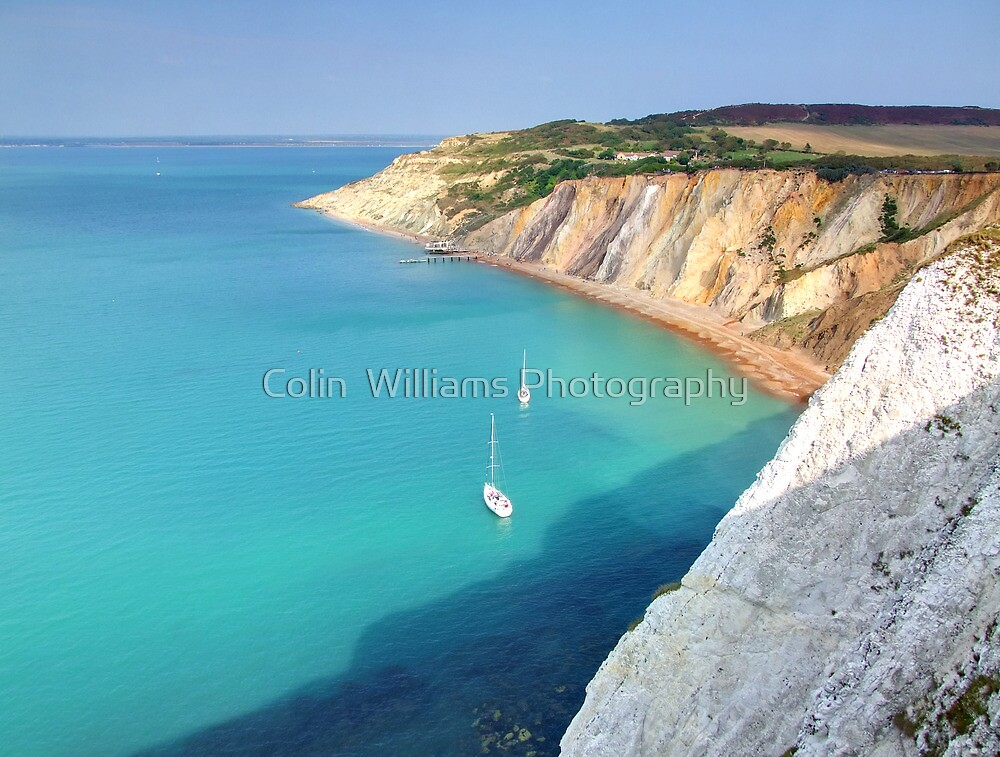 Dropping Anchor for Lunch - Alum Bay - I.O.W. by Colin  Williams Photography