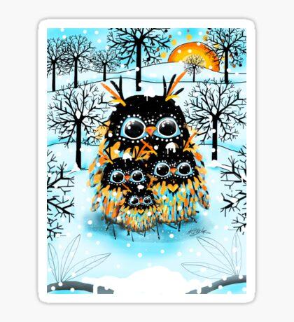 snow owls Sticker
