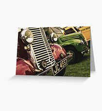 Classic Vehicles - Close Grills Greeting Card