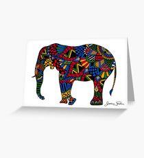 Afrikanischer Elefant Zentangle Grußkarte