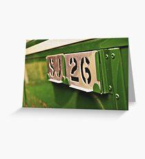 Classic Vehicles - Omnibus Badge Greeting Card