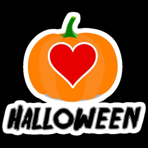 Love Halloween  (T-SHIRT & STICKER) by PopCultFanatics