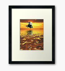 Apache AH-1  Attack Helicopter Framed Print