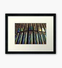organ pipes Framed Print