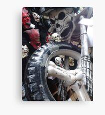 Dia de Los Muertos; Brian's Grave Rider Canvas Print