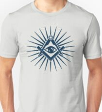 Masonic symbol, all seeing eye, freemasonry  T-Shirt
