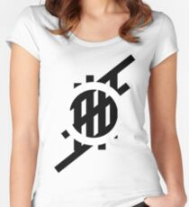 'Stripe'- Circle Women's Fitted Scoop T-Shirt