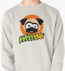 Tugg the WerePug - White (and Light) Apparel and Stickers Pullover
