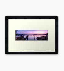 Koolewong Harbour Panoramic Framed Print