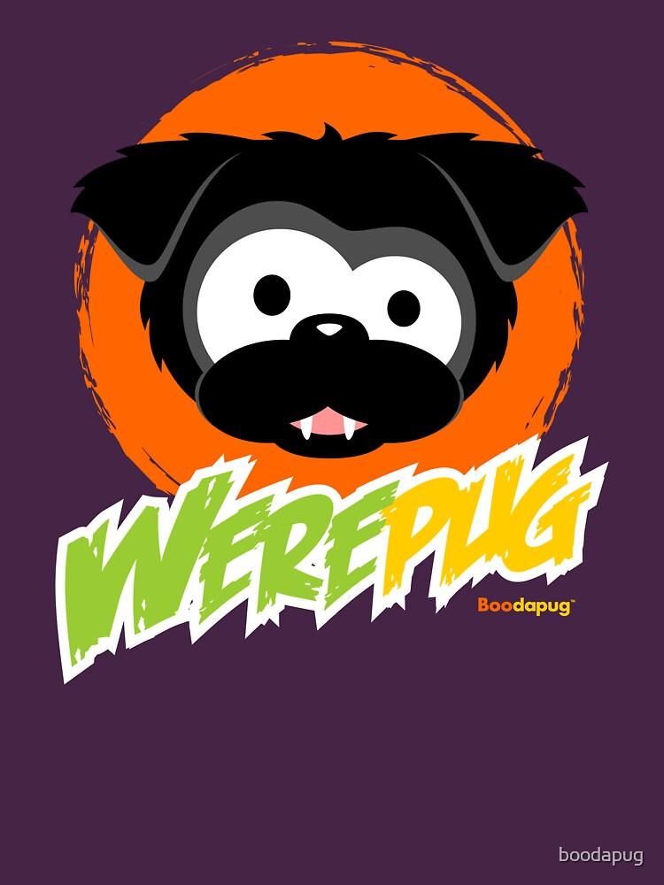 Black WerePug - Dark Apparel by boodapug